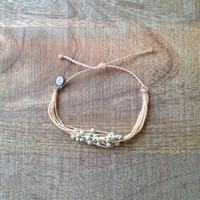 The Girl and The Water - Pura Vida - Platinum Pearls Bracelet in Cream - $12