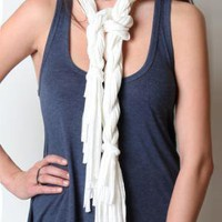 White Light (Skarf for a Cause) - $64.00 : ThreadSence.com, Your Spot For Indie Clothing  Indie Urban Culture