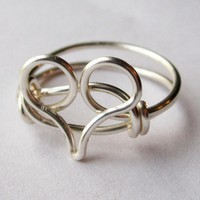 Silver Heart Ring Custom Size | Luulla