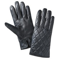 Merona® Quilted Leather Glove - Black