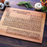Custom Geekery, Periodic Table Engraved Cutting Board  - 12x16 - Personalized Science Gift, Graduation Gift, Nerdy Wedding Gift, Chemistry