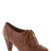 It's All Chic to Me Heel in Cognac | Mod Retro Vintage Heels | ModCloth.com
