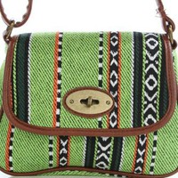 ETHNIC PATTERNED MINI CROSS BAG