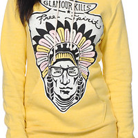 Glamour Kills Free Spirit Yellow Pullover Hoodie at Zumiez : PDP