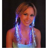 Glowbys LED Fiber Optic Light-Up Hair Barrette