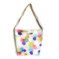Ditsy Dots  Splash Dyed Hand PAINTED Cotton by twostringjane