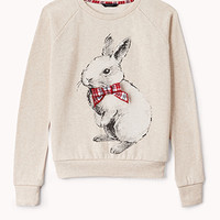 Fuzzy Rabbit Sweatshirt (Kids) | FOREVER 21 - 2040496260