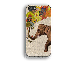 Elephant,flowers,IPhone 5s case,IPhone 5c case,IPhone 4 case, IPhone 5 case ,IPhone 4s case,Rubber IPhone case
