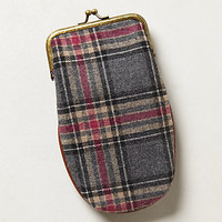 Tweedy Plaid Glasses Case