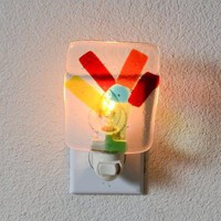 Fused Glass Baby Nursery Night Light by eyeseesage on Zibbet