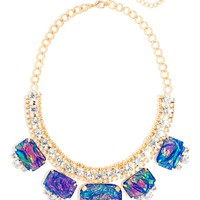Blue Fire Opal Collar