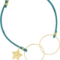 Inez and Vinoodh | 18-karat gold, turquoise and leather bracelet  | NET-A-PORTER.COM