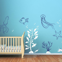 Deep Sea Wall Decals for Baby Nursery Underwater by CherryWalls