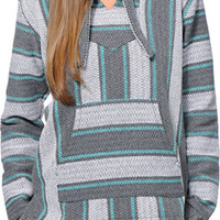 Senor Lopez Girls Coco Loco Graphite & Mint Poncho at Zumiez : PDP