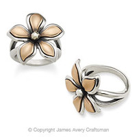 Silver & Copper Petal Ring from James Avery