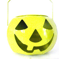 halloween pumpkin, neon, jack o lantern, lime green, pumpkins, candle holder