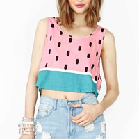 NG X Lazy Oaf Watermelon Crop Tank