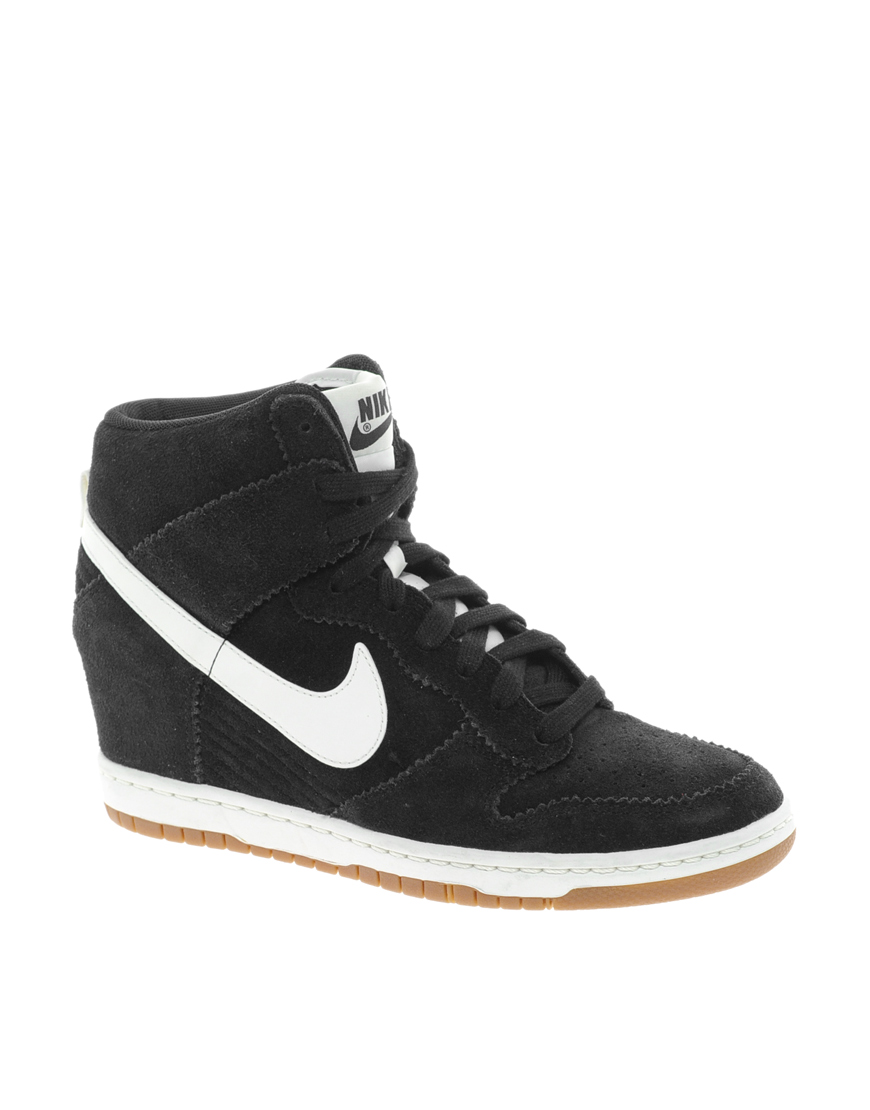 nike dunk sky high black wedge sneakers from asos. Black Bedroom Furniture Sets. Home Design Ideas