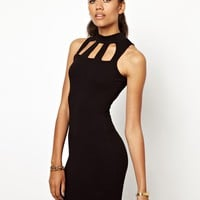 Cut Out Turtle Neck Bodycon Dress