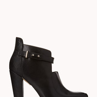 Standout Faux Leather Booties