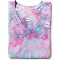 Women's Purple Tie-Dyed V-Neck