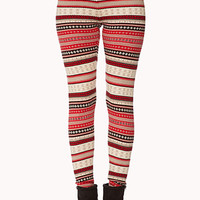Cozy-Chic Fair Isle Leggings | FOREVER 21 - 2061970157