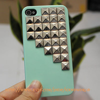 iPhone 4 Case with Silver Studs by handworld