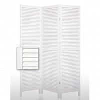 Screen Gems Shutter Accordion Room Divider in White - SG-42 - Room Dividers - Decor