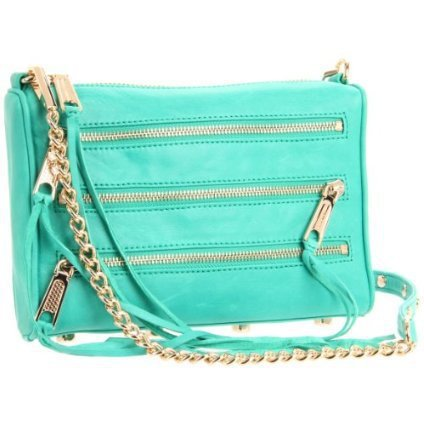 Rebecca Minkoff Mini 5 Zip Clutch / Bright Green
