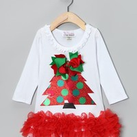 Christmas Tree Ruffle Dress - Available in Infant, Toddler & Girls - Whimsical & Unique Gift Ideas for the Coolest Gift Givers