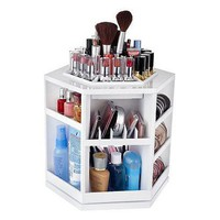 Makeup &amp; Cosmetic Organizer That Spins for Easy Access to all your Beauty Essentials, NO More Clutter!Save Space on Bathroom Counter. Great Mother&#x27;s Day Gift...Made in the USA!