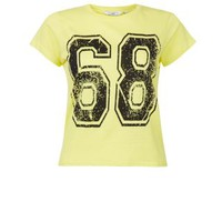 New Look Mobile | Yellow 68 Sports Crop T-Shirt