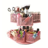 Nifty Cosmetic Organizing Carousel, Pink