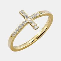 Bony Levy Diamond Cross Ring (Nordstrom Exclusive)
