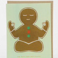 Gingerbread Om Holiday Card - Urban Outfitters