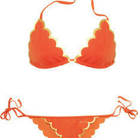Chloé|Scalloped triangle bikini|NET-A-PORTER.COM
