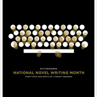 "NaNoWriMo ""Typewriter"" Poster 