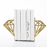 Minimalistic bookends - Diamonds - (Golden edition)