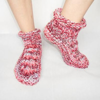 Slipper Socks 4 styles knitting pattern DOWNLOAD chunky / medium worsted / bulky yarn