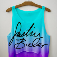 Justin Signature Tie Dye Crop Top