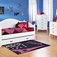 Belle Noir  White 5 Pc Daybed Bedroom