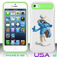 USA Design #2 - IPhone 5 5S Glow in Dark Case # smurfs 2 @ Cover for IPhone 5 5S