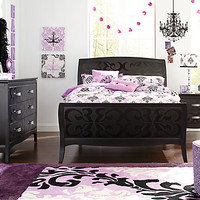 Belle Noir Dark Merlot  5 Pc Twin Bedroom