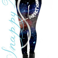 1D Grunge Leggings Custom Printed.  Custom printed One direction grunge high quality leggings.  Love One Direction