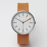 104 Series (Brushed Steel / Orange Rubber) | Uniform Wares