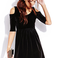 Poetic Velveteen Babydoll Dress | FOREVER 21 - 2000072120