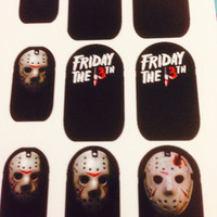 Friday the 13th Water Slide Nail Decals