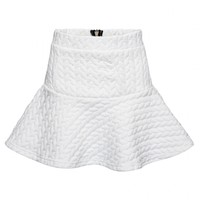 Fishtail mini skirt in damask knit - FrontRowShop
