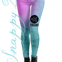 1D Ombre Leggings Custom Printed.  Custom printed 5SOS grunge high quality leggings.  Love One Direction and 5SOS