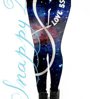 5SOS Cosmos Leggings Custom Printed.  Custom printed One direction grunge high quality leggings.  Love One Direction